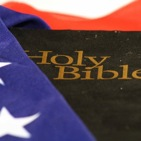 bible wrapped in the american flag