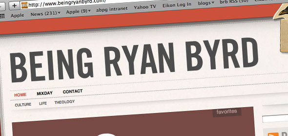 beingryanbyrd.com redesign