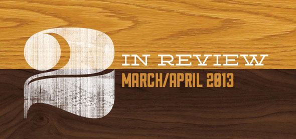 two in review march april 2013