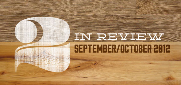 2 in review: september/october 2013