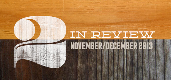two in review: november/december 2013
